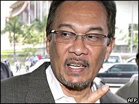 Former Malaysian deputy prime minister Anwar Ibrahim, 01/08/2005