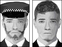 E-fit of one of the robbers (Kent Police)