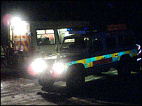 The Central Beacons Mountain rescue team on Thursday evening