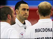 Britain's GB Euan Byers (left), David Murdoch (centre) and Ewan MacDonald