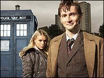 Still of new Dr Who David Tennant, BBC