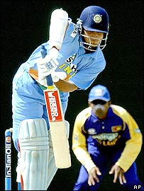 Ganguly batted patiently throughout his landmark innings
