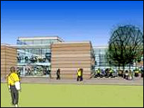 Architect's impression of new academy