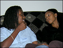 South African lesbian couple