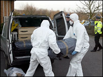 Police with bundles from the van (Kent News and Pictures)