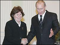 Louise Arbour meeting President Vladimir Putin