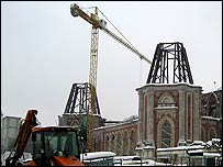 Construction work on the roof of the Tsaritsyno Palace (photo: Evgeniy Podolskiy)