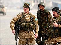 British Isaf soldiers in Kabul
