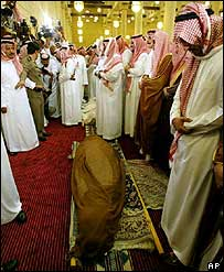 Prayers said over body of King Fahd before burial