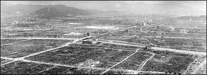 imagen de Hiroshima poco después de la tragedia