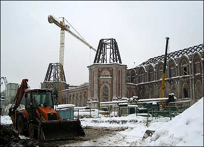 Construction work on the roof of the Tsaritsyno Palace (photo: Evgeniy Podolskiy)