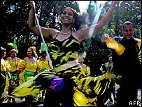 A Samba dancer in Rio de Janeiro