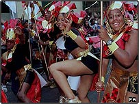 Dancers at the 1997 Notting Hill carnival