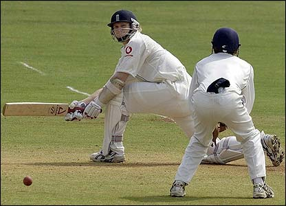Matthew Hoggard in action with the bat