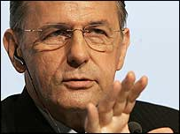 IOC chief Jacques Rogge