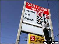 US gasoline station