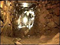 Archaeologist in souterrain