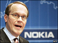 Jorma Ollila, chief executive of Nokia
