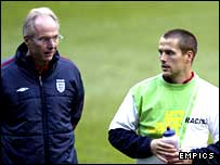Sven-Goran Eriksson and Michael owen