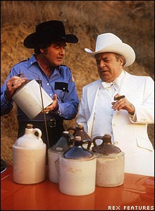 Sheriff Roscoe P Coltrane (left) and 'Boss' Hogg