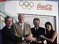 Coca Cola celebrate their extended sponsorship deal of the Olympics