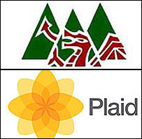 Plaid's old and new logos