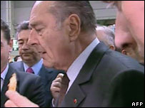 President Chirac at agricultural fair