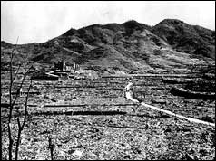 Devastation in Nagasaki