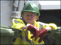 Boy as binman