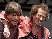Sir Mick Jagger and Keith Richards