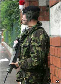 Soldier in north Belfast