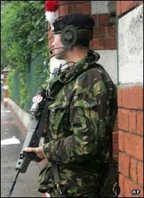 Soldier in north Belfast