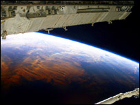 Earth viewed from the Space Shuttle complex, Getty Images