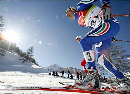 Italy's Pietro Piller Cottrer in action in the men's 50km freestyle cross country