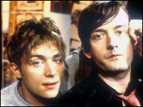 Blur's Damon Albarn and Pulp's Jarvis Cocker