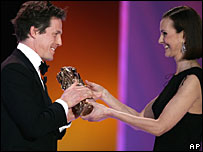 Hugh Grant and Carole Bouquet