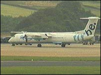 Flybe plane on runway