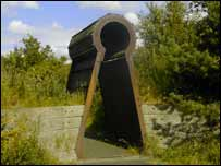 One of the pieces of public art on the Airdrie to Bathgate section