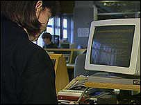 Women working on a computer