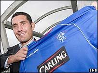 Julien Rodriguez arrives in Glasgow for a medical