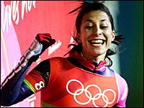 Great Britain's sole medal winner Shelley Rudman