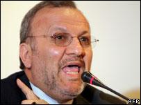 Iranian foreign minister Manuchehr Mottaki