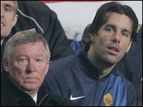 Manchester United manager Sir Alex Ferguson (left) dropped Ruud van Nistelrooy