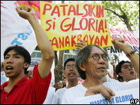 Protesters in Manila on Saturday