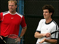 Mark Petchey and Andy Murray