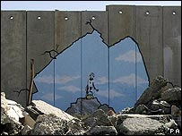 Banksy painting on Israel's security barrier