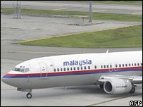 A Malaysian Airlines Boeing 737-400