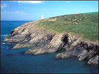 Coastal path in north Pembrokeshire