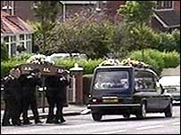 Funeral of Stephen Paul in north Belfast