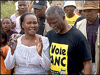 President Thabo Mbeki with a voter